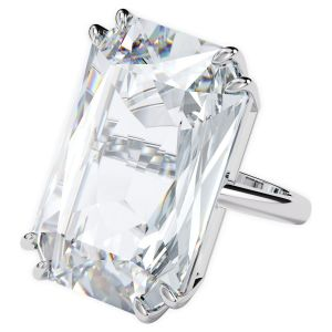 Swarovski Mesmera Oversized Cocktail Ring - White with Rhodium Plating 5610369 5600858 5610370