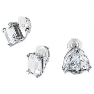 Swarovski Millenia Ear Cuff Asymmetrical Set - White with Rhodium Plating