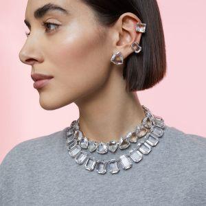 Swarovski Millenia Single Clip Earring Set - White with Rhodium Plating-5602413