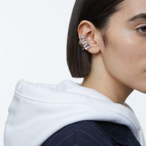 Swarovski Millenia Ear Cuff Graduated Crystals - White with Rhodium Plating-5602783