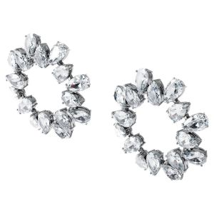 Swarovski Millenia Earrings Pear Cut - White with Rhodium Plating 5601509