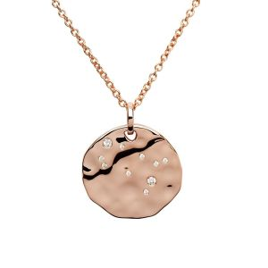Unique & Co Zodiac Constellation Pendant - Gemini in Rose Gold