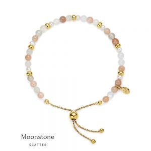 Jersey Pearl Sky Bracelet - Scatter Style in Moonstone and Gold 1827897