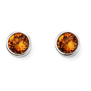 November Birthstone Earrings - Sterling Silver