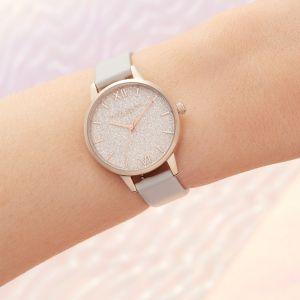 Olivia Burton Glitter Dial Vegan Blush and Pale Rose Gold Watch OB16GD50