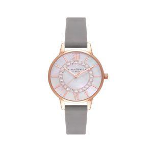 Olivia Burton Sparkle Wonderland Grey and Rose Gold Watch OB16WD92