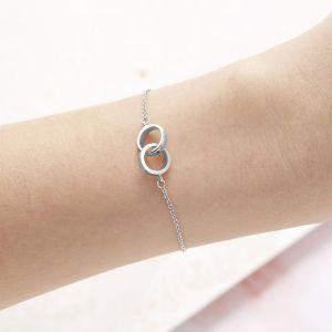 Olivia Burton Classic Interlink Chain Bracelet Silver OBJENB14B