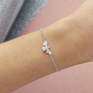 Olivia Burton Sparkle Bee Bracelet Silver OBJAMB120