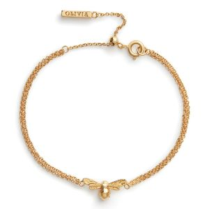 Olivia Burton Lucky Bee Chain Bracelet Gold OBJAMB44N