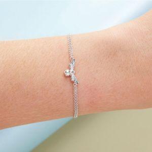 Olivia Burton Lucky Bee Chain Bracelet Silver OBJAMB45N