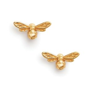Olivia Burton Lucky Bee Stud Earrings Gold OBJAME23N