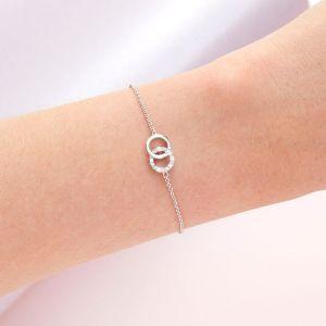 Olivia Burton Bejewelled Classics Interlink Chain Bracelet Silver OBJCOB09