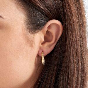 Olivia Burton Rope Twist Gold Hoop Earrings OBJCOE129