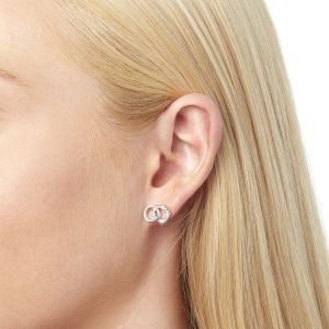 Olivia Burton Bejewelled Classics Interlink Earrings Silver OBJCOE74
