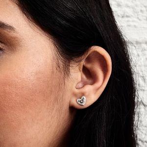 Olivia Burton Classic Heart Silver Earrings