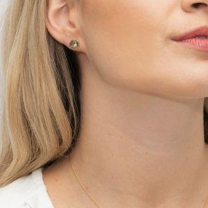 Sarah Alexander Olive Grove Labradorite Gold Stud Earrings