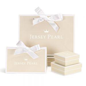 Jersey Pearl Tassel Bracelet - Grey with Gold Detail 1877663