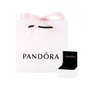 Pandora Entwined Circles Pandora Logo & Sparkle Collier Necklace 396235CZ-45