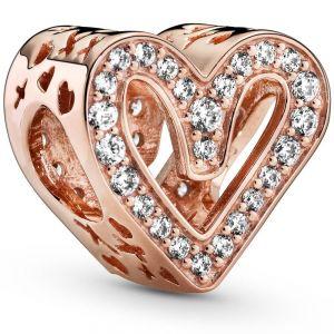 Pandora Rose Sparkling Freehand Heart Charm - 788692C01
