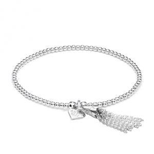 Annie Haak Santeenie Silver Bracelet - Chain Tassel