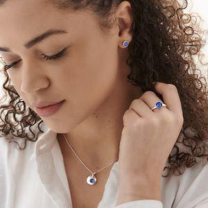 September Birthstone Earrings - Sterling Silver