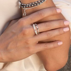 Annie Haak Serasi Black Silver Ring