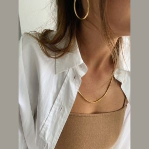 Shyla London Thick Snake Chain Necklace