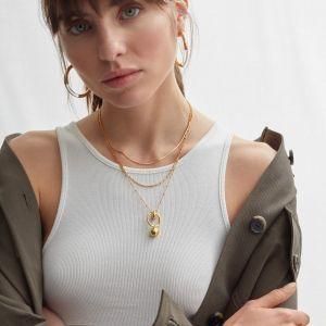 Shyla London Layla Pendant Satellite Chain Necklace