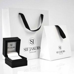 Sif Jakobs Corte Doppio Double Ring - Silver with Black Zirconia