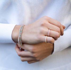 Sif Jakobs Ellera Bracelet, silver with multi-coloured zirconia