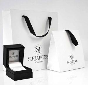 Sif Jakobs Ellera Grande Earrings, gold with pink zirconia SJ-E2869-PK(YG)