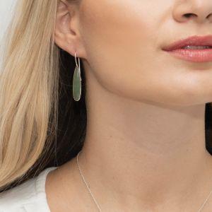 Sarah Alexander Silver Willow Green Aventurine Drop Earrings