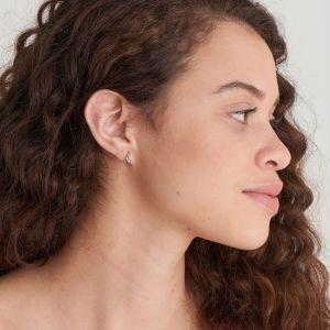 Ania Haie Silver Knot Huggie Hoop Earrings E029-04H