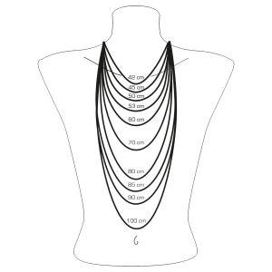 Thomas Sabo Charm Circle Blackened Necklace, Textured Silver