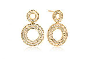 Sif Jakobs Earrings Valiano Due - 18k Gold Plated With White Zirconia SJ-E1054-CZ(YG)
