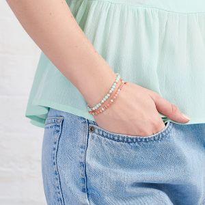 Jersey Pearl Sky Bracelet - Scatter Style in Blue Lace Agate