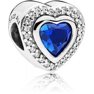 Pandora Sparkling Blue Heart Charm - 797608NANB