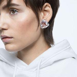 Swarovski Mesmera Single Clip Earring Triangle Cut - White with Rhodium Plating-5600752