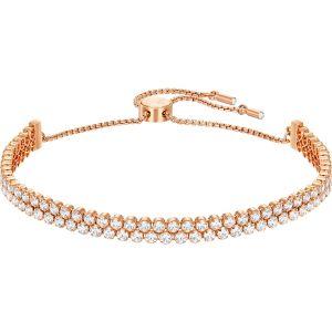 Swarovski Subtle Bracelet, White, Rose Gold Plating 5224182