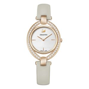 Swarovski Stella Watch, Leather, Grey & Rose 5376830