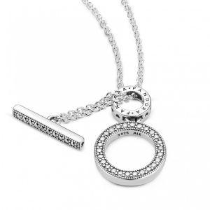 Double Hoop T-bar Necklace 45cm – 399039c01