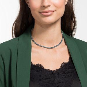 Swarovski Tennis Deluxe Necklace, Black, Ruthenium Plating 5517113