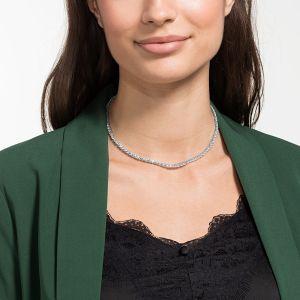 Swarovski Tennis Deluxe All-Around Necklace, White, Rhodium Plating