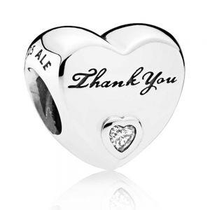 Pandora Polished Thank You Heart Charm - 792096CZ