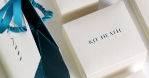 Kit Heath Blossom Eden Wrapped Leaf Stud Earrings