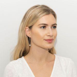 Sarah Alexander Urban Dream Blue Lace Agate Threader Earrings