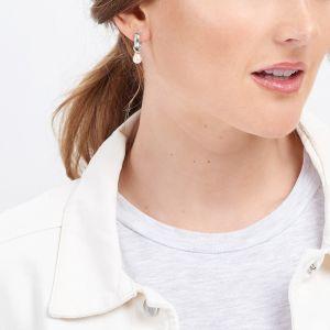 Jersey Pearl VIVA Earrings - Silver VIVAE-RW