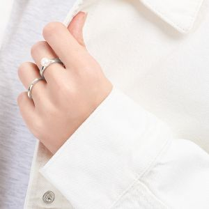 Jersey Pearl Viva pearl ring in silver