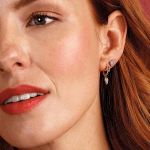 Kit Heath Desire Precious White Topaz Heart Stud Earrings  30505WT029