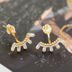 Ania Haie Modern Triple Ball Stud Earrings, Silver E002-01H